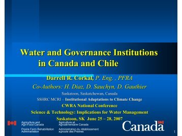 Water & Government - Prairie Adaptation Research Collaborative