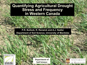 Quantifying Agricultural Drought Stress and Frequency in Western ...