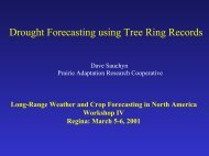 Drought Forecasting Using Tree Ring Record - Prairie Adaptation ...