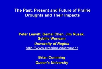 The Past, Present and Future of Prairie Droughts and Their Impacts