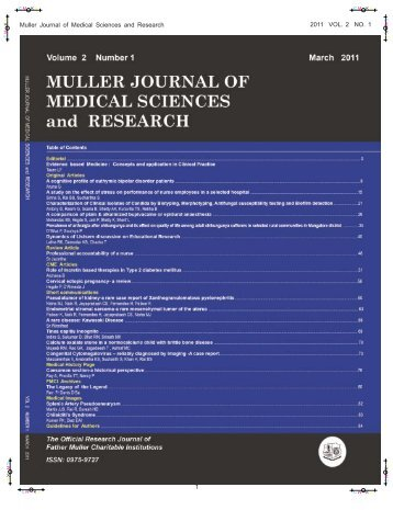 Muller Journal of Medical Sciences and Research - Father Muller ...