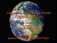 Adaptación y Mitigación Frente al Cambio Climático