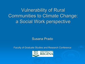 Vulnerability of Rural Communities to Climate Change: a Social ...