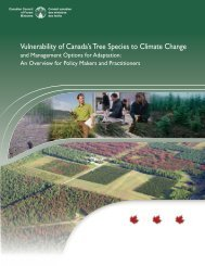 Vulnerability of Canada's Tree Species to Climate Change