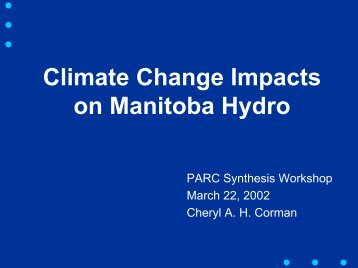 Climate Change Impacts on Manitoba Hydro
