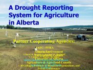 A Drought Reporting System for Agriculture in Alberta