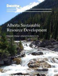 Alberta Sustainable Resource Development - Prairie Adaptation ...