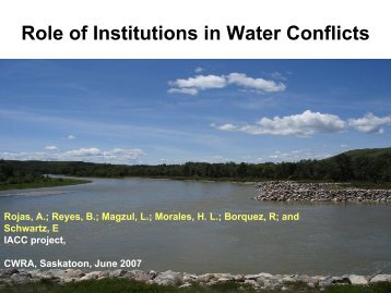 Role of Institutions in Water Conflicts