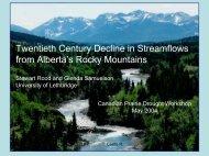 Twentieth Century Decline in Streamflows from Alberta's Rocky ...