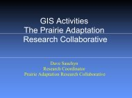 GIS Activities - Prairie Adaptation Research Collaborative