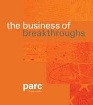 the business of breakthroughs™ - Parc