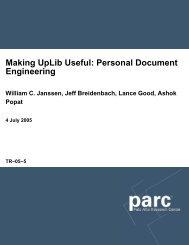 Making UpLib Useful: Personal Document Engineering - Parc