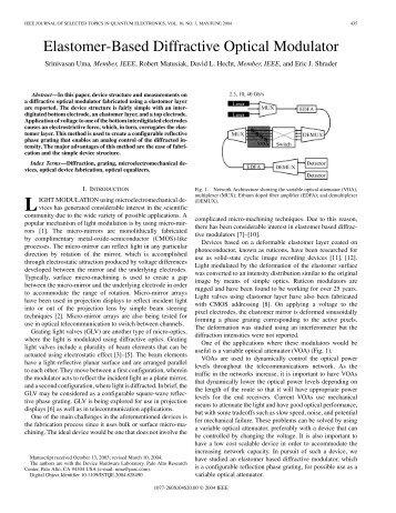 Elastomer-Based Diffractive Optical Modulator - Parc