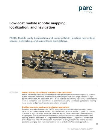 Low-cost mobile robotic mapping, localization, and navigation - Parc