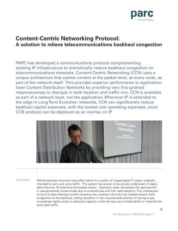 Content-Centric Networking Protocol: - Parc
