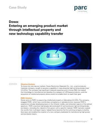 Dowa: Entering an emerging product market through ... - Parc
