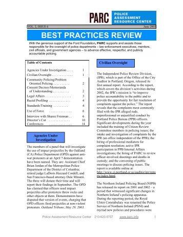 June - Police Assessment Resource Center