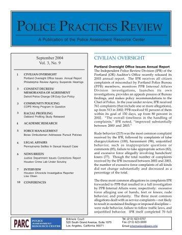 September - Police Assessment Resource Center