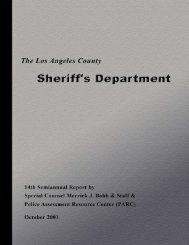 Fourteenth Semiannual Report - Police Assessment Resource Center