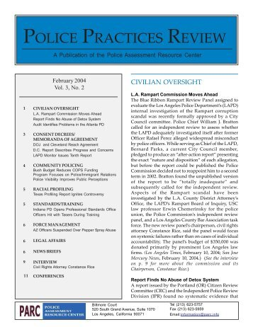 February - Police Assessment Resource Center