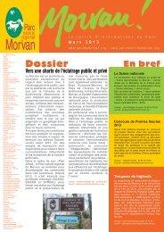 E-letter n°31 (PDF - 242 Ko) - Parc naturel régional du Morvan