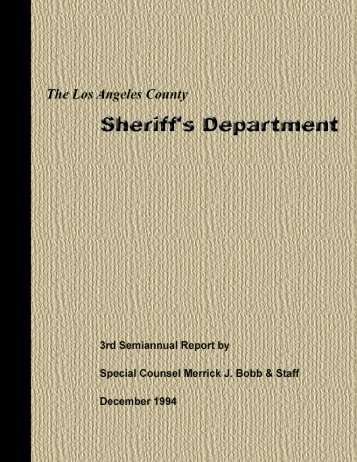 3rd Semiannual Report.pdf - Police Assessment Resource Center