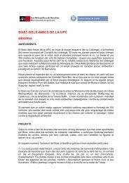Consulta el dossier del Bosc dels Amics de l'UPC - Parc Riu Llobregat