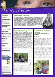 UHPC Newsletter May 2012 - Parents Centres New Zealand Inc