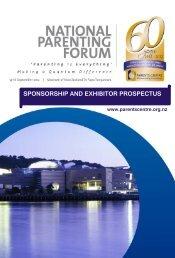 Parents Centres National Parenting Forum Sponsorship and ...