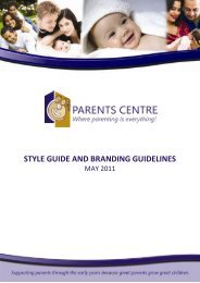 style guide and branding guidelines - Parents Centres New Zealand ...