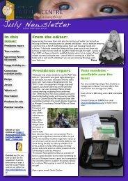 UHPC Newsletter July 2012 - Parents Centres New Zealand Inc
