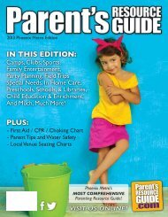 Parent's Resource Guide Phoenix Metro Edition 2013