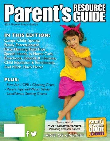 Parent's Resource Guide Phoenix Metro Edition 2013