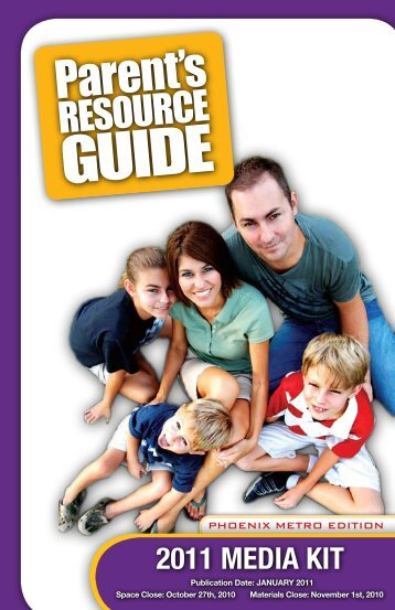 Parent's Resource Guide 2011 Media Kit