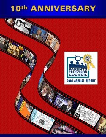 2005 Annual Report - Parents Television Council