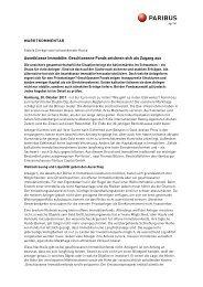 Assetklasse Immobilie: Geschlossene Fonds ... - Paribus Capital