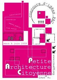 c o ncours d'idées P AC - Ecole Nationale Supérieure d'Architecture ...