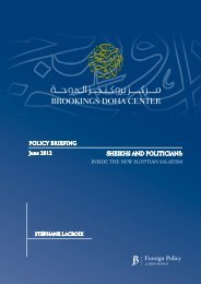 POLICY BRIEFING SHEIKHS AND POLITICIANS - The Arab world in ...