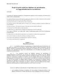 Projet d'arrêté relatif aux diplômes de spécialisation et d ...