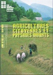 COLLOQUE AGRICULTURES CITOYENNES et PAYSAGES ...