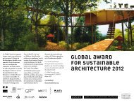 GLOBAL AWARD FOR SUSTAINABLe ARCHITeCTURe 2012