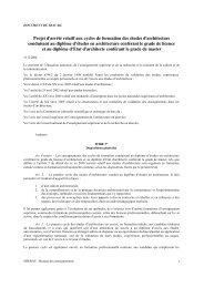 Projet d'arrêté relatif aux cycles de formation des études d ...