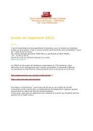Guide du logement 2012.pdf - Ecole Nationale Supérieure d ...
