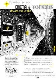 Affiche - Ecole Nationale Supérieure d'Architecture de Paris La Villette
