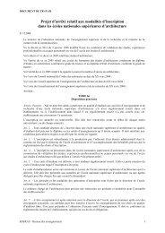 Projet d'arrêté relatif aux modalités d'inscription dans les écoles ...
