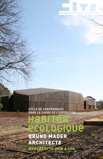 bruno mader architecte - Ecole Nationale Supérieure d'Architecture ...