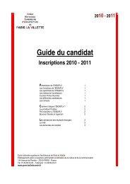 Guide du candidat - Ecole Nationale Supérieure d'Architecture de ...