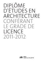 Plaquette Licence 2011-2012 - Ecole Nationale Supérieure d ...