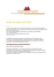 Guide du logement - Ecole Nationale Supérieure d'Architecture de ...