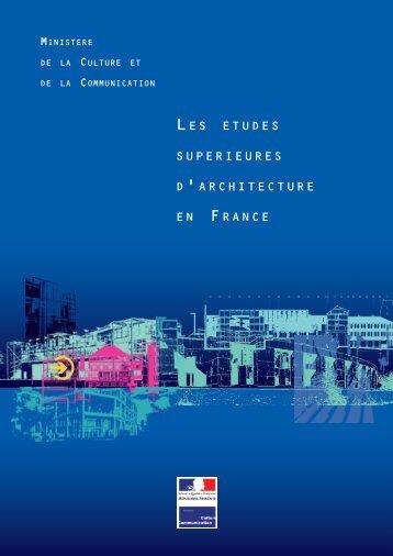 Les études supérieures d'architecture en France - Ministère de la ...
